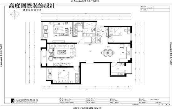 中式 空间感 装修 设计 户型图图片来自高度老杨在中铁花语城新中式设计的分享