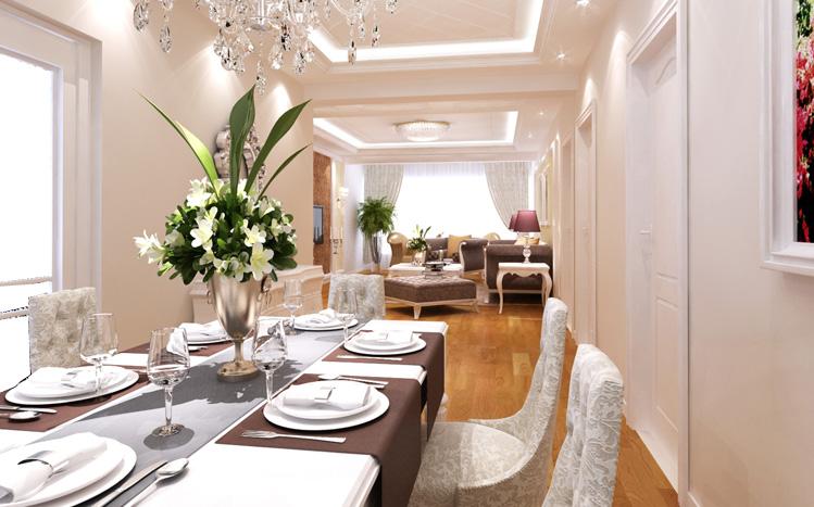 简约 欧式 三居 白领 收纳 80后 小资 餐厅图片来自实创装饰百灵在奢华温馨三口之家  144平米的分享