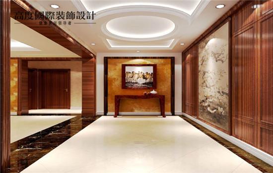 宽敞的门厅,让客人走进来第一眼印象深刻