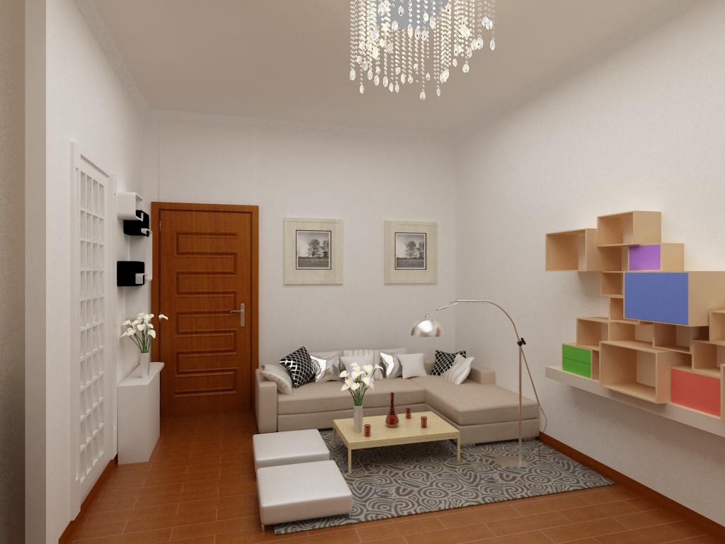 简约 现代 今朝装饰 南湖东园 一居室 旧房改造 客厅图片来自今朝装饰小郭在南湖东园现代简约的分享