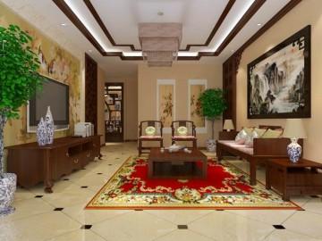 祥云国际220平米新中式风格设计
