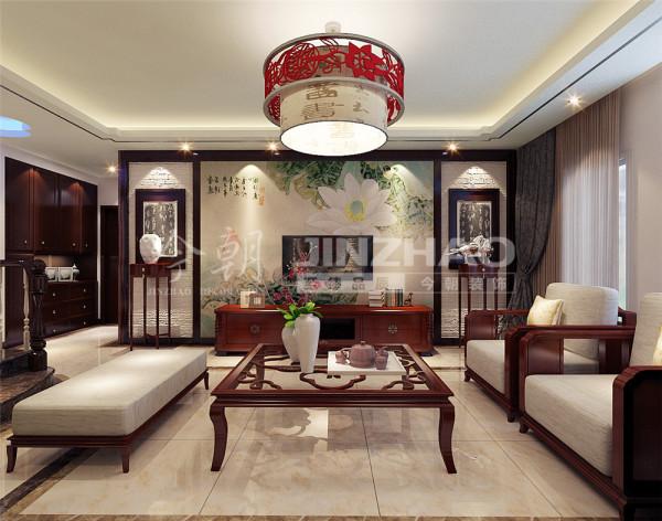 【设计说明】:新房装修现代家居装饰中更多的人愿意将中式元素作为一种符号来使用。
