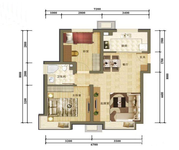 户型图图片来自tjsczs88在首创装饰-金隅悦城的分享