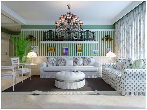 简约 欧式 田园 混搭 三居 白领 收纳 80后 小资 客厅图片来自百家装饰小姜在金地檀溪125平田园风格的分享