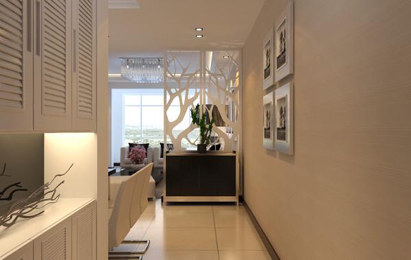 对于采光不佳的玄关来说,镂空的屏风是隔断玄关和客厅的最佳选择。镂空屏风不仅起到了遮挡和隔断的作用,同时自然光线可以透过屏风从客厅进入玄关,补充不足的采光。