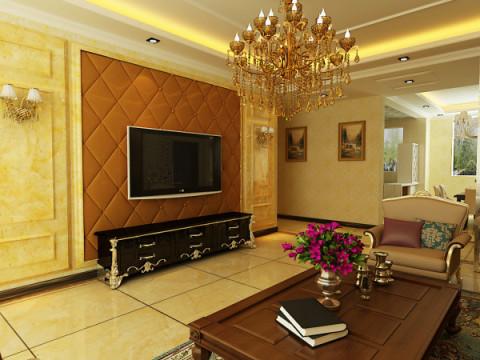 欧式 三居 白领 收纳 80后 小资 沈阳 装饰装修 室内设计 客厅图片来自百家装饰小迪在泰莱首园100欧式风格的分享