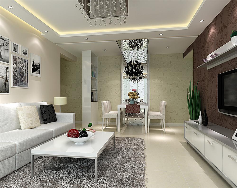 简约 二居 白领 收纳 80后 小资 客厅图片来自实创装饰完美家装在珠江绿洲84平简约时尚案例赏析的分享