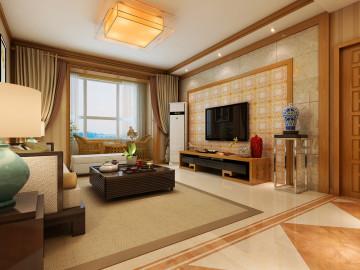 万达小区125平三居室装修设计