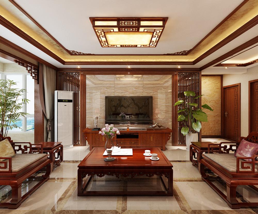 新中式 旧房改造 80后 新房装修 三居 客厅图片来自城市人家李浩然在古典新中式给你不一样的人生的分享