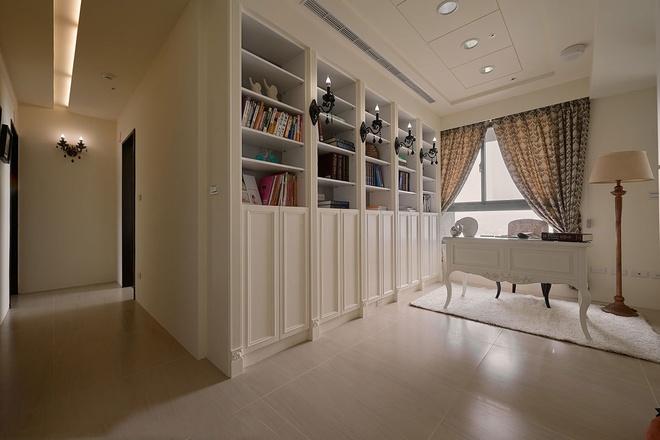 三居 优雅 新古典 书房图片来自业之峰装饰旗舰店在优雅的132平新古典三居的分享