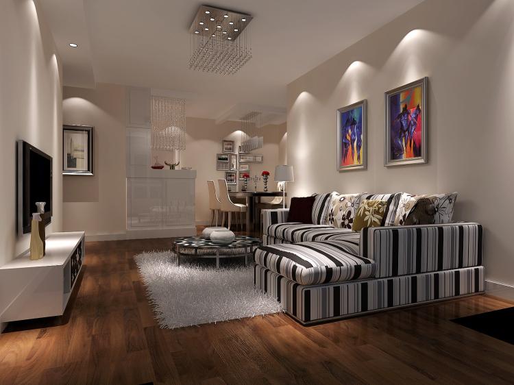 现代 客厅图片来自高度国际宋书培在珠江帝景三居室装饰效果图的分享