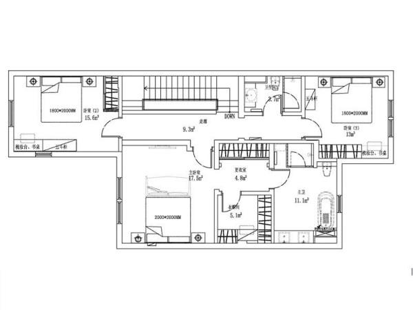 二楼户型图