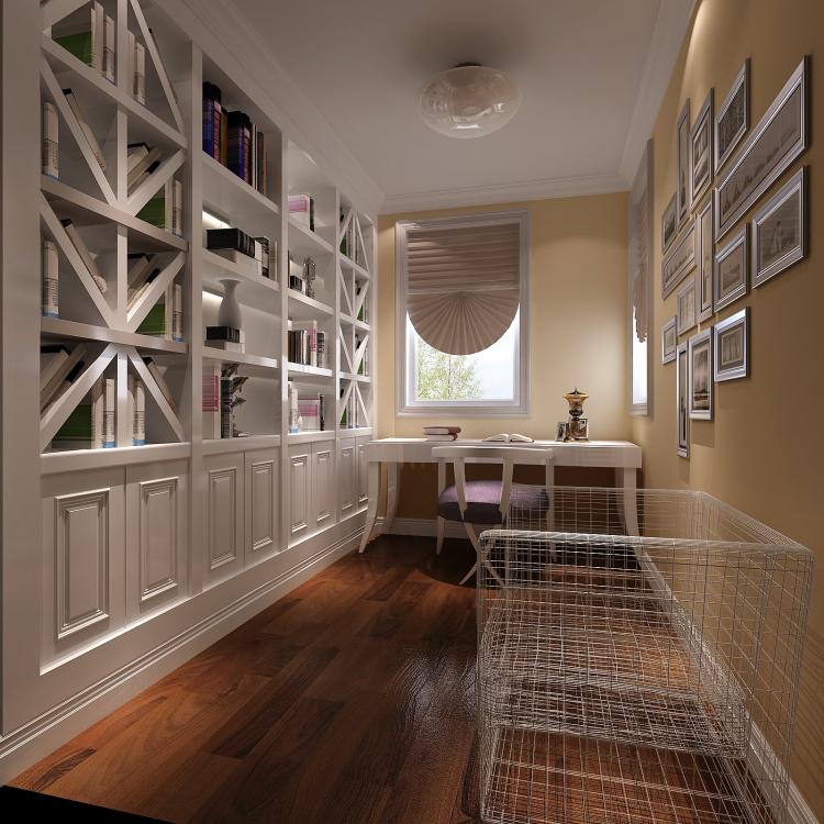 现代 书房图片来自高度国际宋书培在珠江帝景三居室装饰效果图的分享