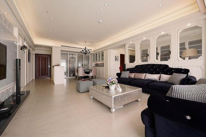 三居 优雅 新古典 客厅图片来自业之峰装饰旗舰店在优雅的132平新古典三居的分享