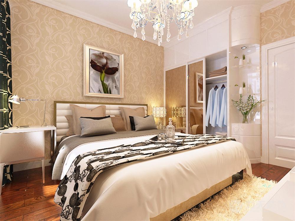 简约 二居 白领 收纳 旧房改造 80后 小资 卧室图片来自阳光力天装饰梦想家更爱家在北宁湾2室2厅88平米的分享