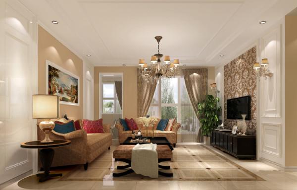 客厅的空间有点偏大,将没必 要的空间给业主隔出了一个储藏间,然后用隐形门做对称造型,最大化的利用了每一块可利用 空间,对称的隐形门也起到了装饰的作用,整个空间的设计即美观又实用!