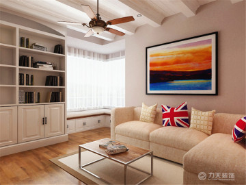海河华鼎82平1室加州海滩风格