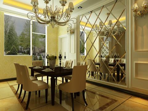 欧式 三居 白领 收纳 80后 小资 沈阳 装饰装修 室内设计 餐厅图片来自百家装饰小迪在泰莱首园100欧式风格的分享