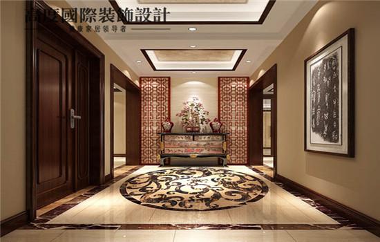 高端大气上档次的门厅,奢华,中式风格