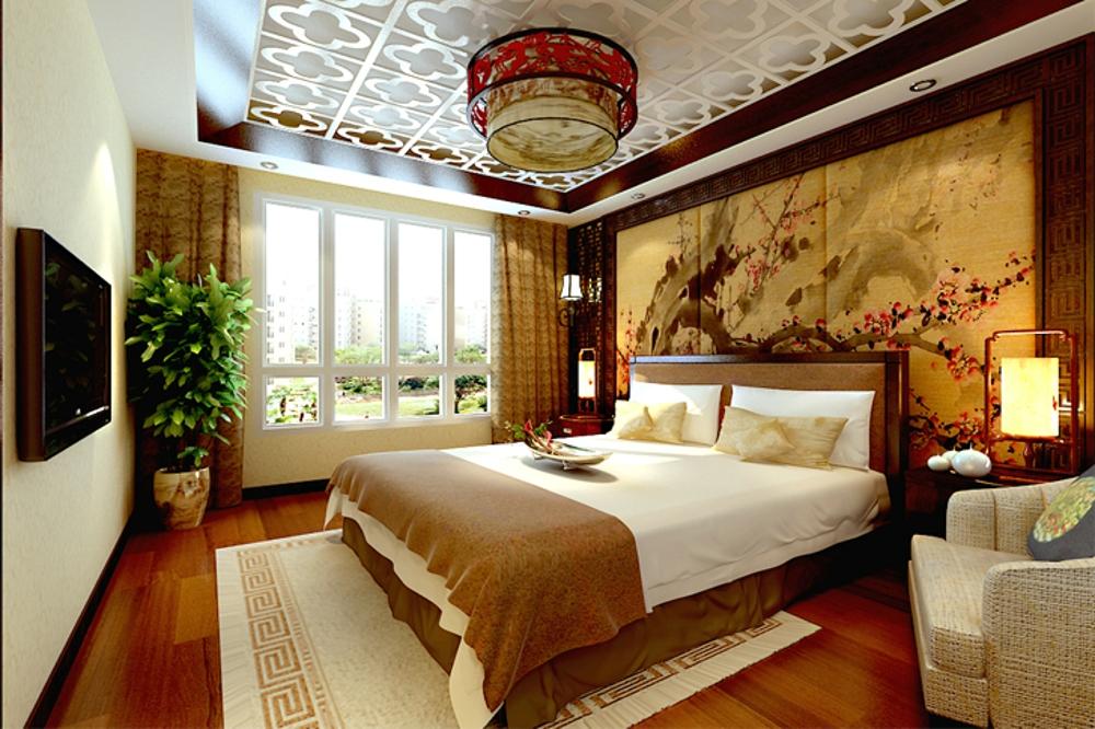 中式 效果图 卧室图片来自石家庄业之峰装饰虎子在国赫 澜山 200平米新中式风格的分享