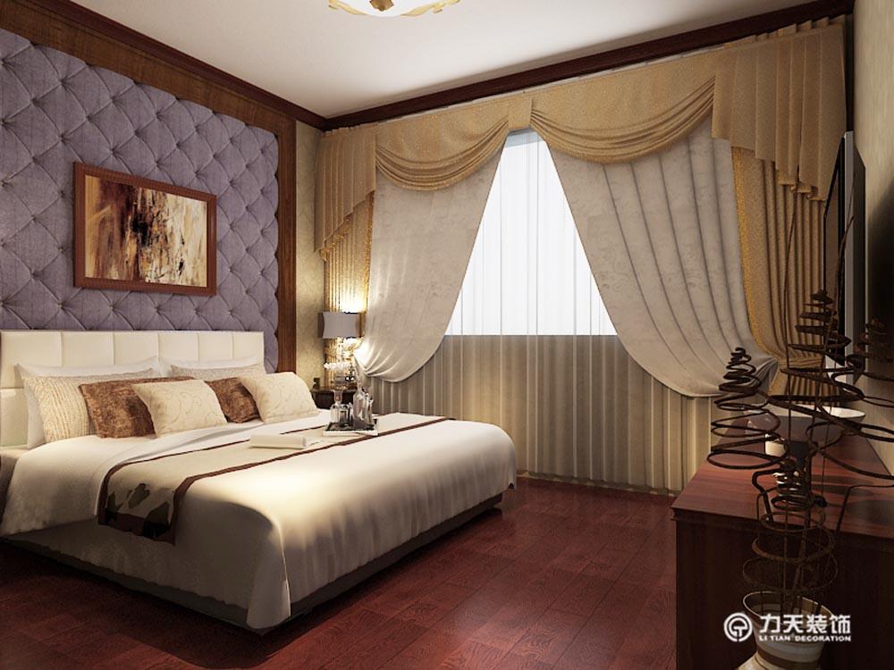 卧室图片来自阳光放扉er在团泊湖-220平米-美式田园风格的分享