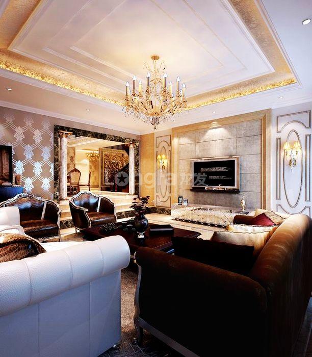 欧式 别墅 龙湖盛景 龙发装饰 装修设计 客厅图片来自龙发装饰集团西安分公司在龙湖盛景380欧式舒适的浪漫情调的分享