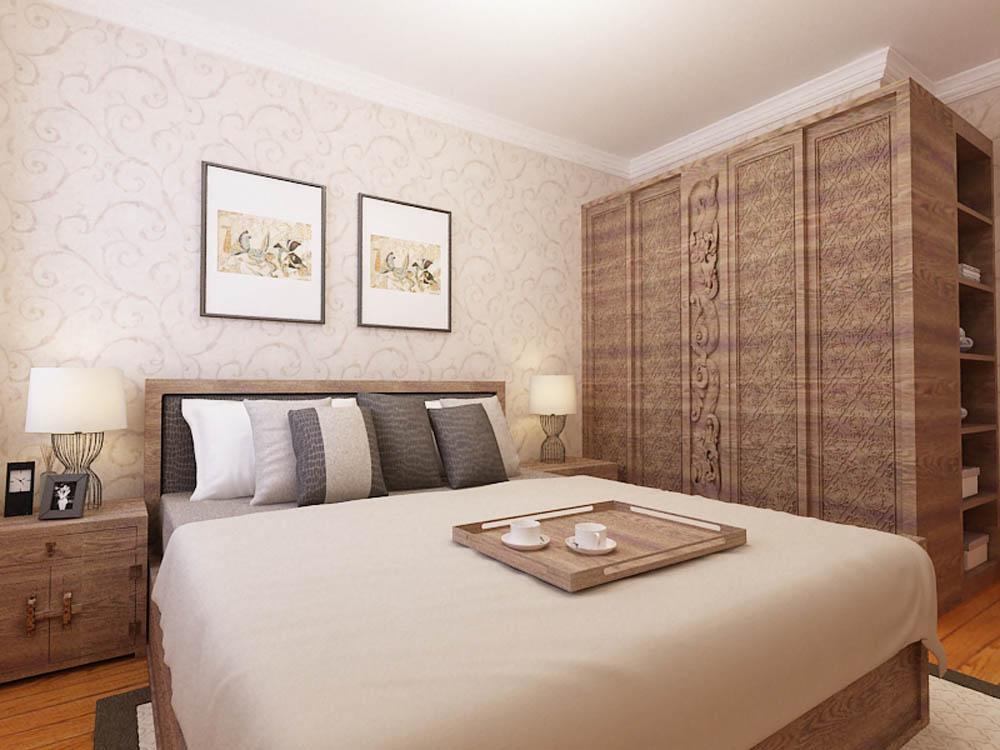 新中式 卧室图片来自阳光放扉er在泰达风景-148平米-新中式风格的分享