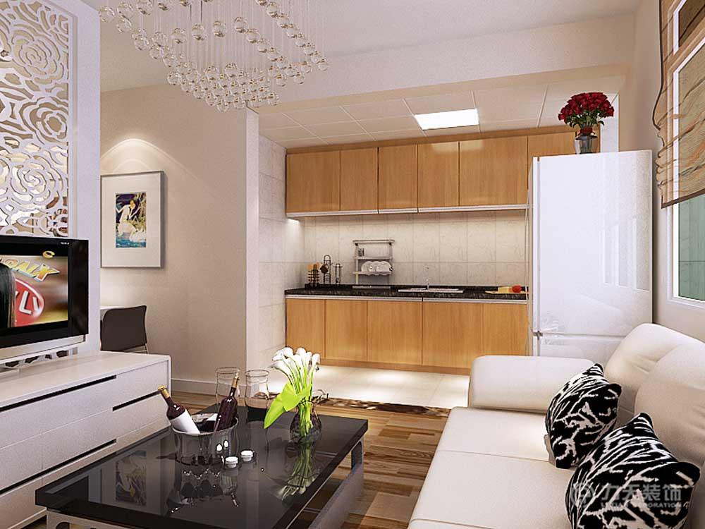 厨房图片来自阳光放扉er在纯真里-82㎡-现代简约的分享