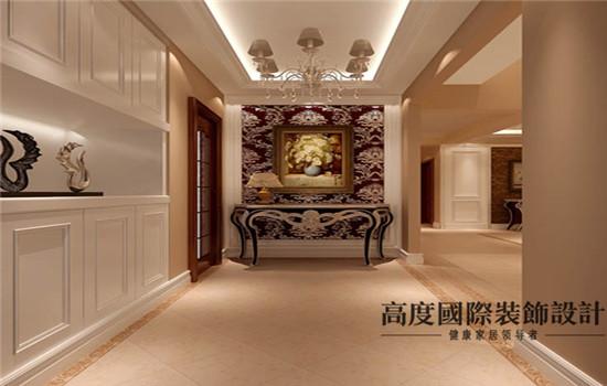 欧式 装修 设计 玄关图片来自高度老杨在鲁能七号院 复式 180平 欧式的分享