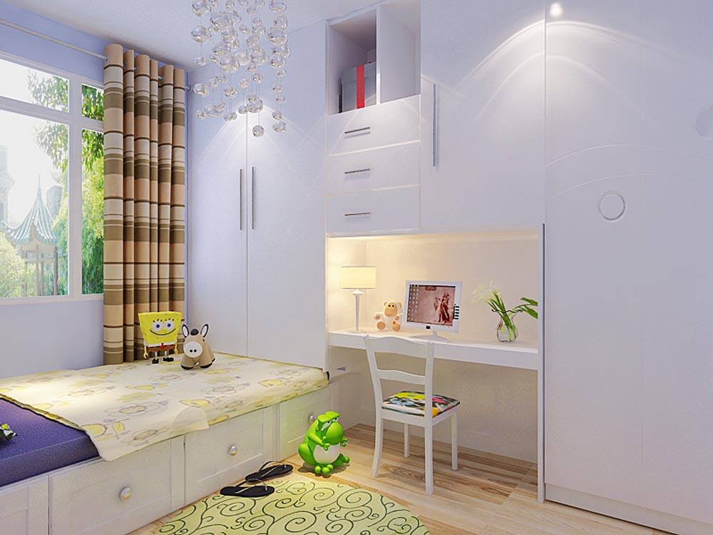儿童房图片来自阳光放扉er在金域国际-81㎡-现代简约的分享