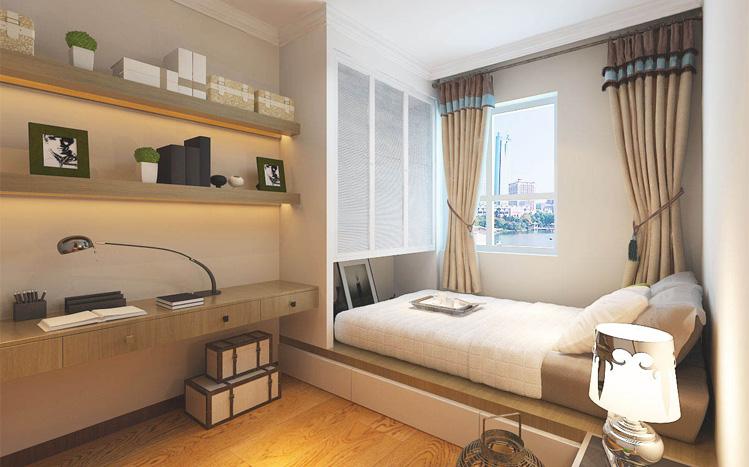 简约 三居 白领 收纳 80后 小资 卧室图片来自实创装饰百灵在烟雨江南新中式130平米装修的分享