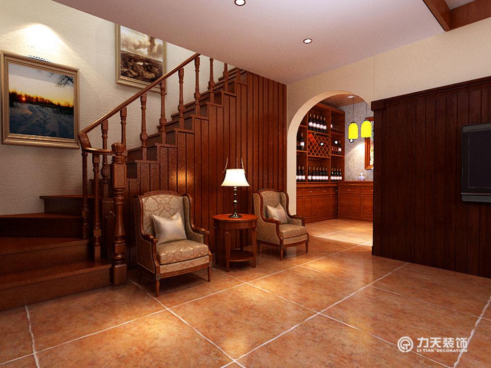 楼梯图片来自阳光放扉er在团泊湖-220平米-美式田园风格的分享