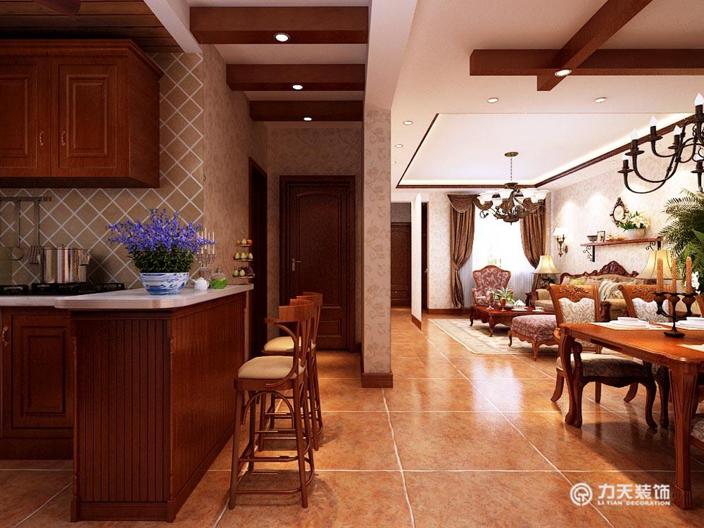 厨房图片来自阳光放扉er在团泊湖-220平米-美式田园风格的分享