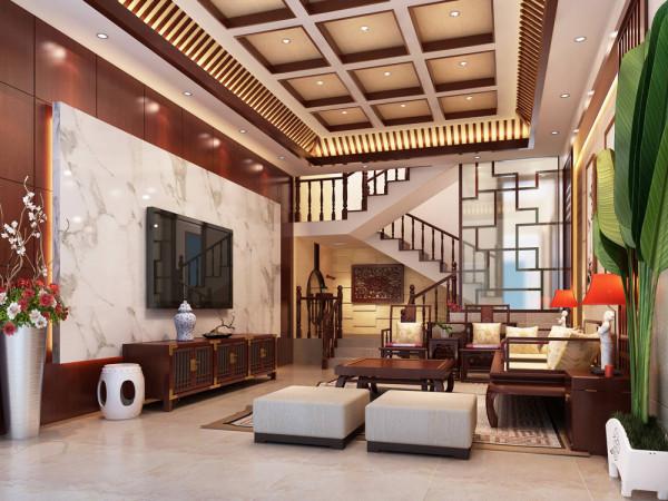 夫妻二人对中式风格非常喜爱。在装饰上房主要求既突出中式特点又不需造型繁多的效果,经过设计师与主人的反复沟通精心打造了这套案例。
