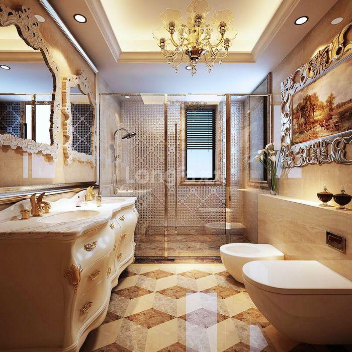 欧式 别墅 龙湖盛景 龙发装饰 装修设计 卫生间图片来自龙发装饰集团西安分公司在龙湖盛景380欧式舒适的浪漫情调的分享
