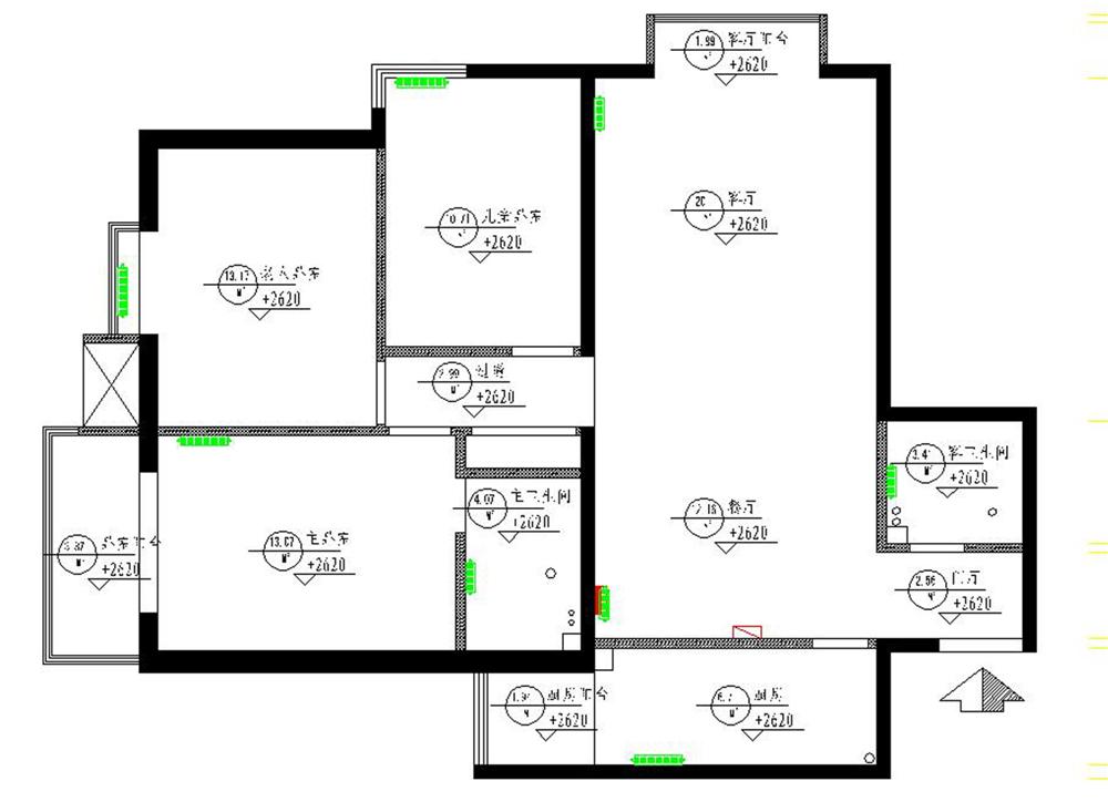 田园 三居 白领 收纳 80后 小资 户型图图片来自实创装饰完美家装在紫金新干线201平大宅案例赏析的分享