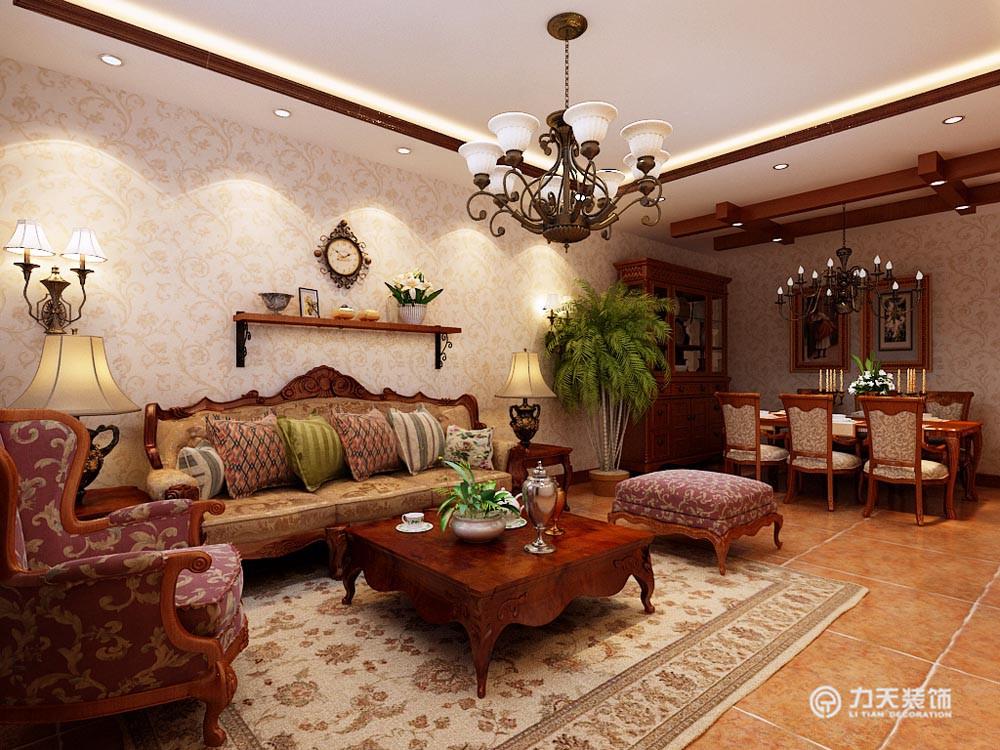 客厅图片来自阳光放扉er在团泊湖-220平米-美式田园风格的分享