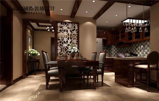 餐厅和厨房一体,节约空间