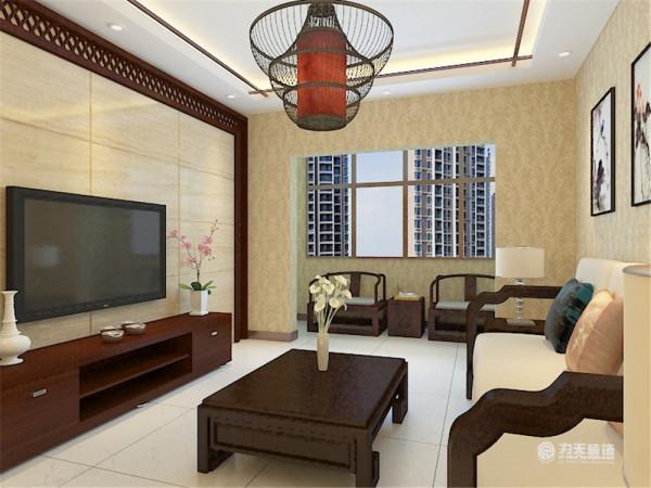 该户型是珑著7、10号楼标准层E户型1室2厅1卫1厨 79.00㎡户,业主的设计定位是中式风格