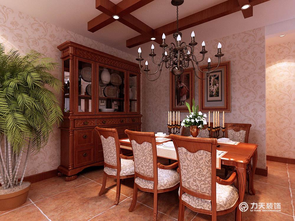 餐厅图片来自阳光放扉er在团泊湖-220平米-美式田园风格的分享