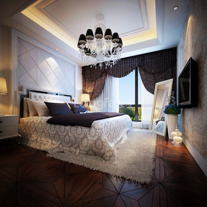 欧式 别墅 龙湖盛景 龙发装饰 装修设计 卧室图片来自龙发装饰集团西安分公司在龙湖盛景380欧式舒适的浪漫情调的分享