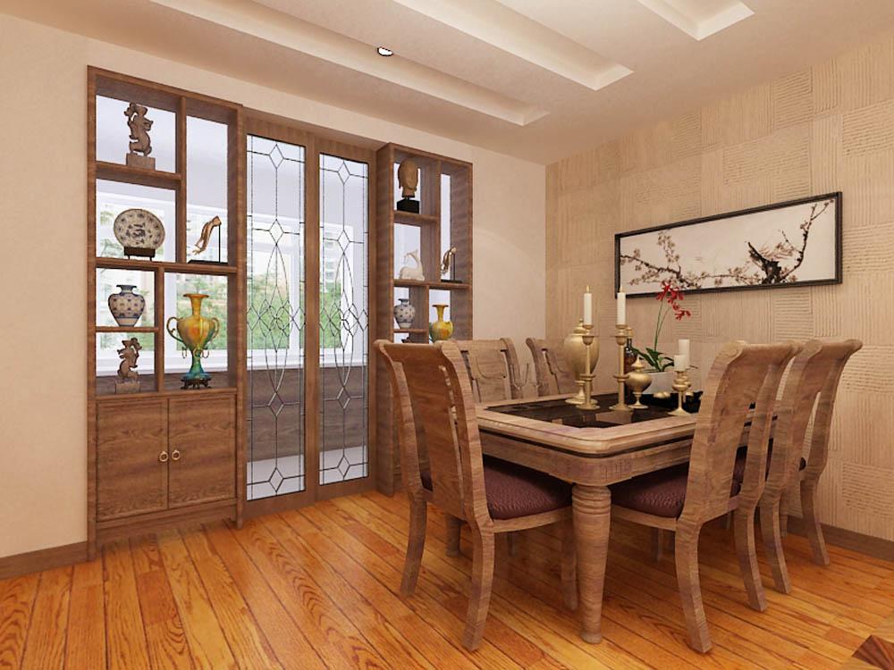 餐厅图片来自阳光放扉er在泰达风景-148平米-新中式风格的分享