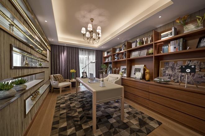 书房图片来自家装大管家在温暖自在空间 346平现代简约别墅的分享