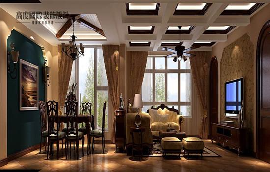 托斯卡纳 五居 装修 设计 客厅图片来自高度老杨在鲁能七号院 五室两厅二卫的分享