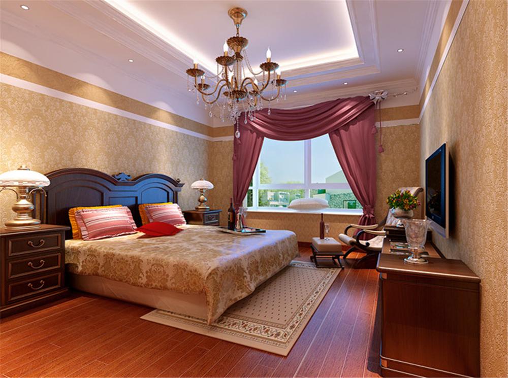 欧式 别墅 白领 收纳 80后 小资 卧室图片来自实创装饰完美家装在西棕榈滩151平简欧风格案例赏析的分享
