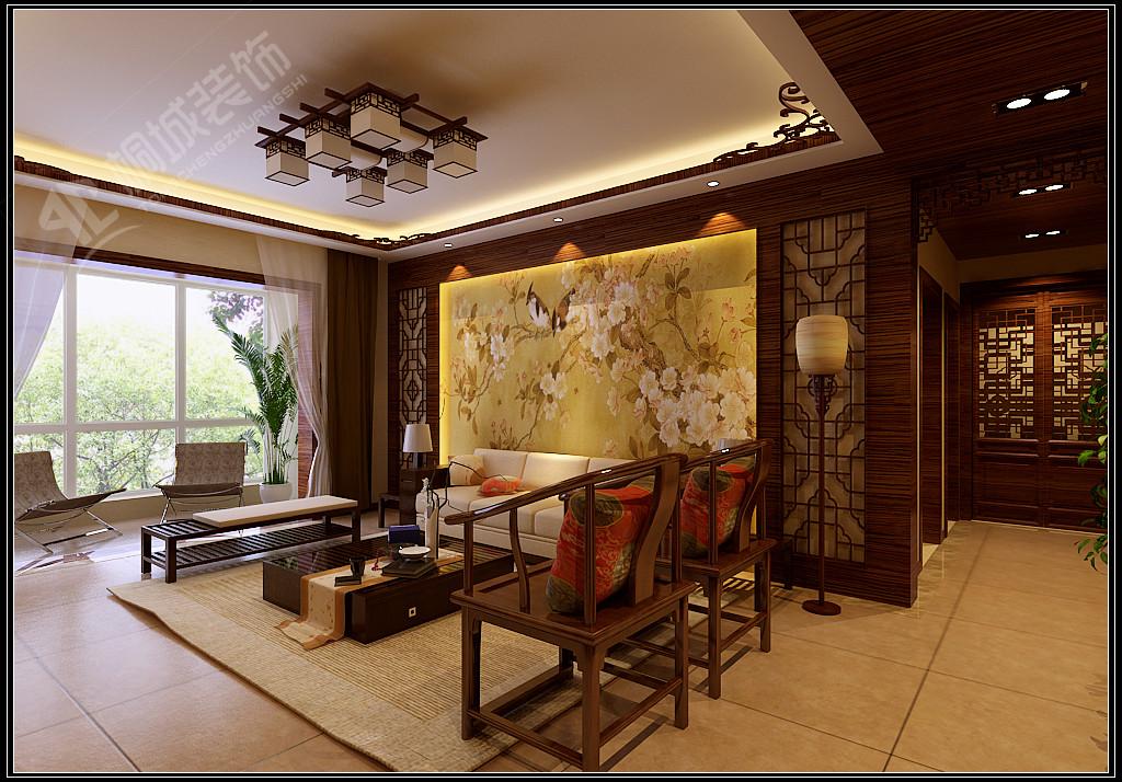 中式 三居 白领 小资 客厅图片来自桐城装饰城城在中海观园  中式风格的分享