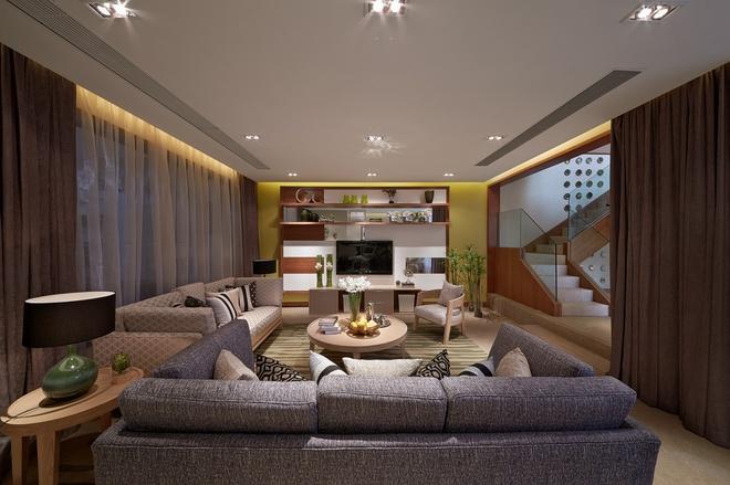 客厅图片来自家装大管家在温暖自在空间 346平现代简约别墅的分享