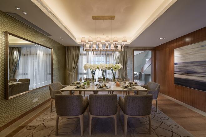 餐厅图片来自家装大管家在温暖自在空间 346平现代简约别墅的分享