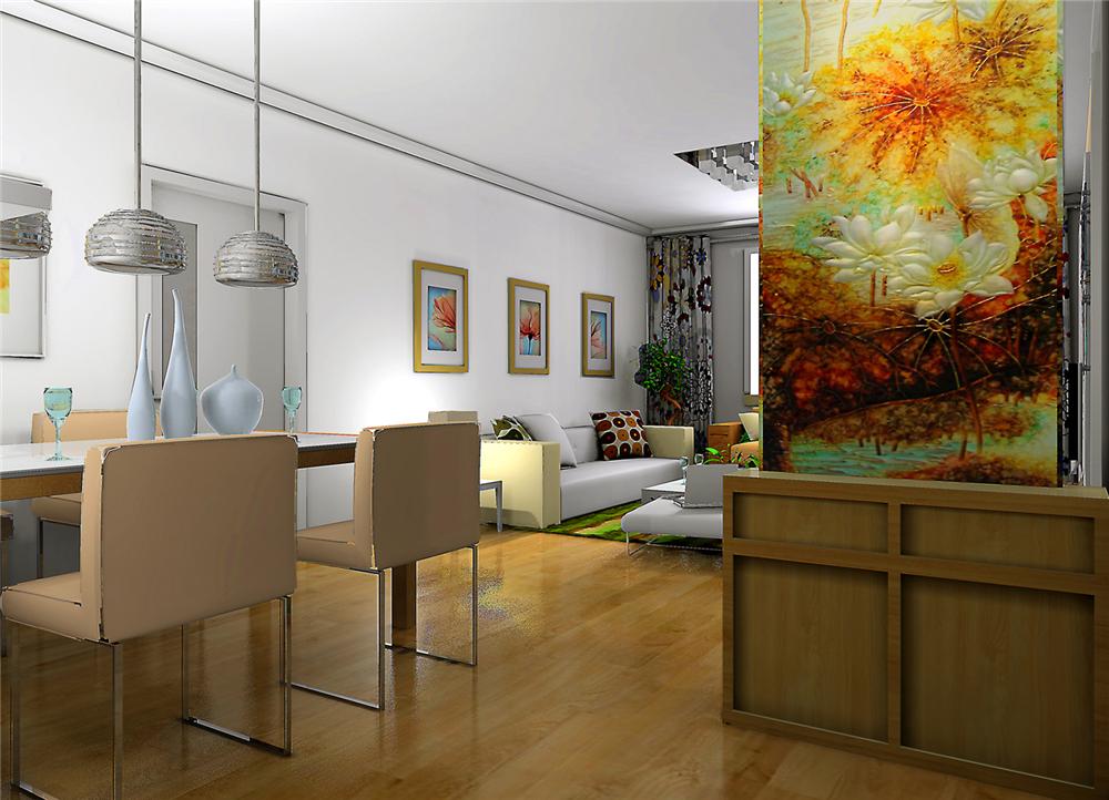 简约 二居 白领 收纳 80后 小资 餐厅图片来自实创装饰完美家装在紫金新干线B1户型简约时尚设计的分享