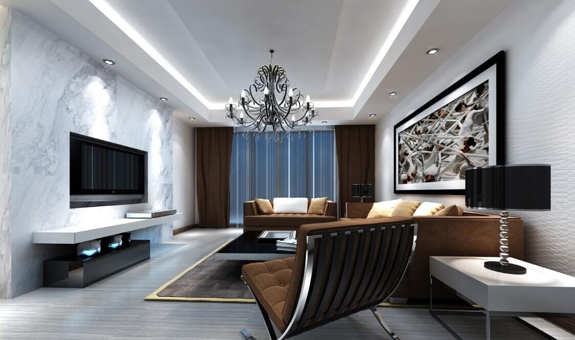 成都装修 装修案例图 现代简约 装修效果图 装修公司 客厅图片来自成都家和装饰在凯德风尚94㎡现代简约风格施工中的分享